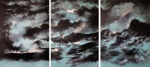 de sombres étendues, huile sur toile, 130 X 97 cm, 2014