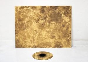Wimp, toile miroir et pigment 148 x 200 x 100 cm