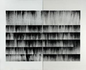 Sam, Octobre 2013, 146 x 178 cm, encre de sérigraphie sur toile.OlivierRenevret
