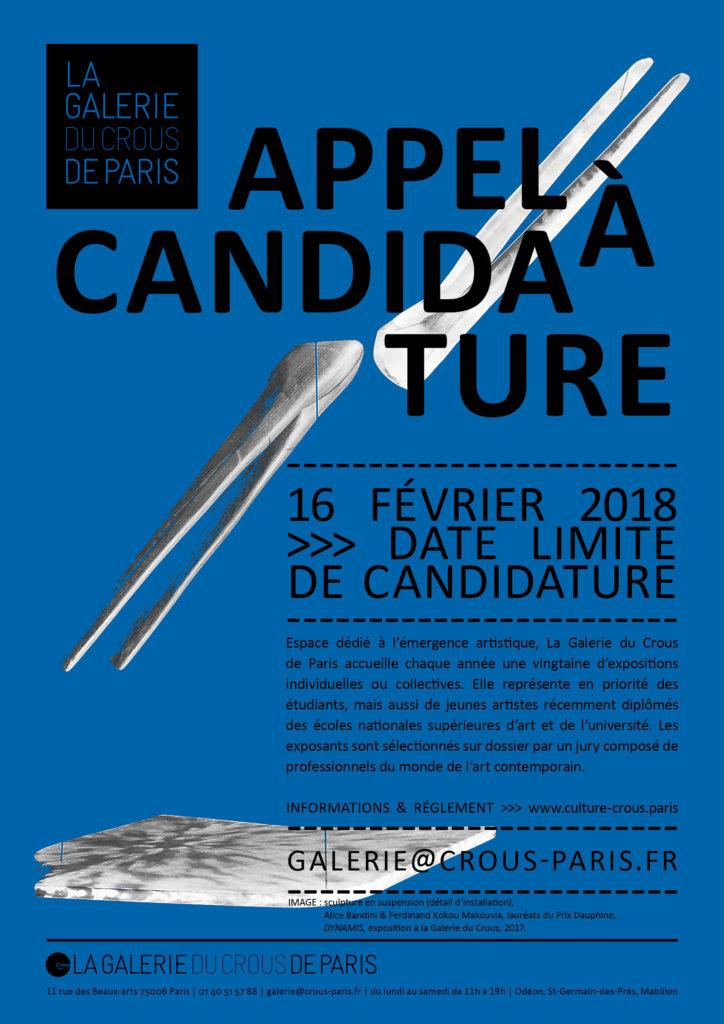APPEL A CANDIDATURE // La Galerie du Crous de Paris