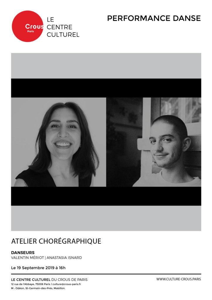 AFFICHE Valentin meriot Atelier chorégraphique