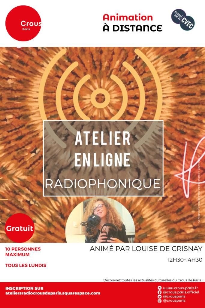 AFFICHE_Atelier_dessin et radio en ligne