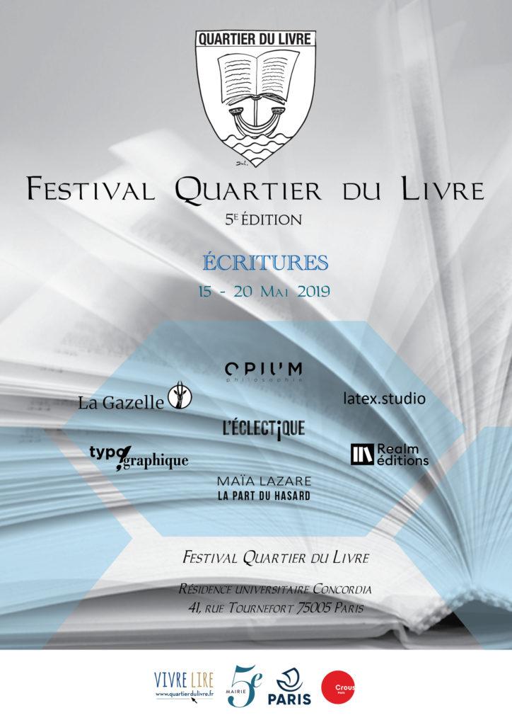 Affiche A3 Festival Quartier du Livre2019