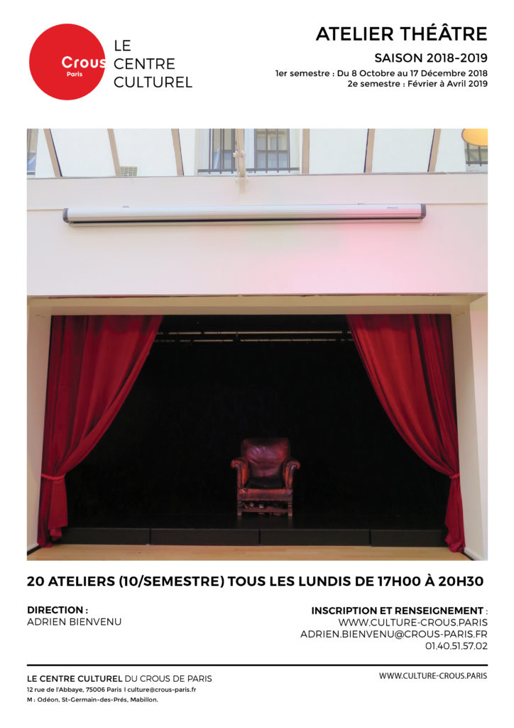 flyer atelier théâtre-adrien2018-19-Scène