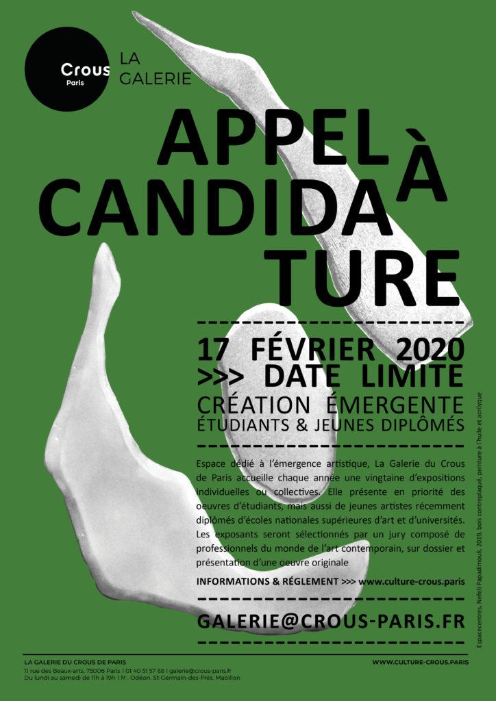 AFFICHE APPEL A CANDIDATURE 2020 __PAPADIMOULI
